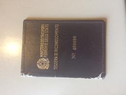 1964 Ministero Dei Trasporti Ferrovie Dello Stato Tessera Di Riconoscimento - Europa