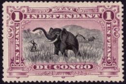 Congo 0026A* Mols  1Fr Violet  1894  H - Congo Belge
