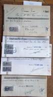 Fiscaux FRANCE Sur Doc ENTIER--port EN Plus - Sammlungen (im Alben)
