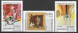 2002  Luxemburg   Mi. 1559-61 **MNH . Gemälde Aus Der Kunstsammlung Der Luxemburgischen Post - Luxembourg