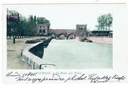 Tournai. Le Pont Des Trous. Carte Colorisée. **** - Tournai
