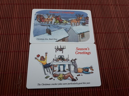 2 Phonecards Christmas (Mint,Neuve) 2 Scans Rare - Noel