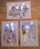 Lot De 6 Cartes Postales Illustrateur Loïc Tréhin / Poul-Fetan Vieux Métiers Morbihan - Artisanat