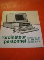 Autocollant Publicitaire IBM Carré 9x9 Cms - Autocollants