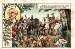 CHROMO LA CHICOREE EXTRA A LA BOULANGERE CARDON-DUVERGER CAMBRAI  BATAILLE DE FONTENOY 1745  Ml DE SAXE - Chromos