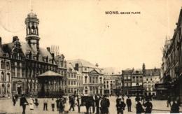 Mons, Grand Place, 1910 Nach Brüssel Versandt - Mons