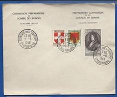 Enveloppe Avec Timbres N°836-837-848   Oblitération:  Conseil De L'Europe  Strasbourg 7-9-1949 - Postmark Collection (Covers)