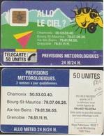 F25-410 E.C ALLO Le CIEL TELECARTE 50 U PUCE SO2  = COTE 50 €    TELECARTE ETAT COURANT - France