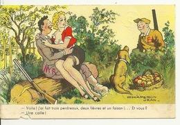 HUMOUR CHASSE Par JEAN CHAPERON / UNE CAILLE ! - Humor