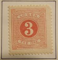 1874 SUEDE - SWEDEN  Y&T  TAXE 2 B /  NEUF SUR CHARNIERE - Suède