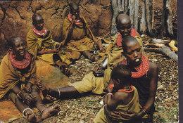 Tanzania PPC East Africa Masai Women Pegasus Card OLMOTONYI 1982 Sweden (2 Scans) - Tansania