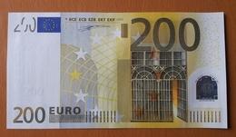 GERMANY 200 Euro 2002 DUISENBERG  Letter X UNC Print Code R005 G3 - EURO