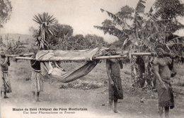 CPA, Mission Du Shiré (Afrique) Des Pères Montfortains, Une Soeur Pharmacienne En Tournée Avec Ses Porteurs, Animée - Missions