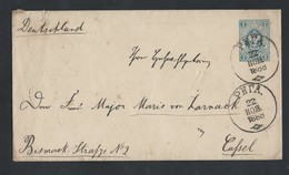 627d.Stamp Envelope. Passed The Post Office In 1888 Riga (now Latvia) Kassel. (Germany). Russian Empire. - 1857-1916 Imperium