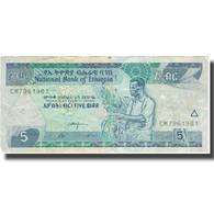 Billet, Éthiopie, 5 Birr, 2015, 2015, TB+ - Ethiopie
