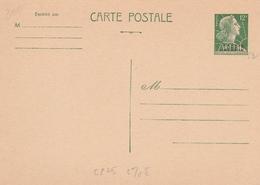 Entier Carte Muller Surchargée Algérie - ACEP CP 25 - Cote 70  € - Algérie (1924-1962)