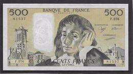 France 500 Francs Pascal - Neuf - 3-3-1988 - Fayette 71-38 - 1962-1997 ''Francs''