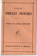 Paris Rue De Mézières : Catalogue ARMAND COLIN éditeur: Rentrée Des Classes 1896  (PPP9603) - Advertising