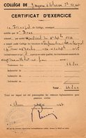 VP13.207 - 1947 - Certificat D'Exercice BRUN Professeur Au Collège De Garçons D'OLORON - Historische Dokumente