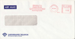 Iceland Bank Cover With Meter Cancel Reykjavik 16-1-1981 (Landsbanki Islands) - 1944-... Republik