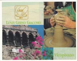 CARTOLINA PUBBLICITARIA LENZI GHINO GIACOMO CERAMICHE VICOPISANO - Artigianato