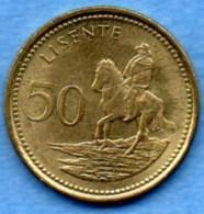 NO/  LESOTHO  50 Lisente  1998 - Lesotho