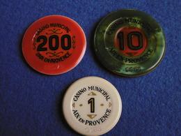 LOT JETONS CASINO AIX EN PROVENCE - Casino