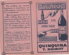 Distillerie NOIROT, Publicité Pour Le Quinquina - Autres Collections