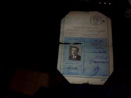 Carte  Permis   De Chasse Annee 1949  Arrondissement  De Castres - Cartes