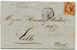 RHONE De LYON LAC Du 28/11/1860 Avec N°16 Oblitéré PC 1818 - Postmark Collection (Covers)