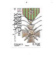 La Croix De Guerre N°4942 Oblitéré Année 2015 - Gebraucht