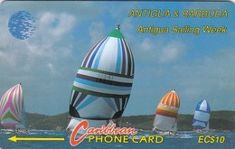 Antigua, ANT-13Aa, Sailing Week (CN On Silver), 2 Scans. - Antigua And Barbuda