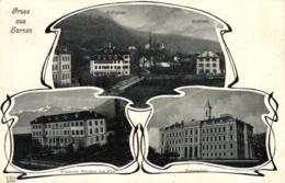 Sarnen, Jugendstil AK, 1907 - OW Obwalden