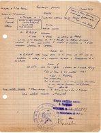 VP13.212 - Commissariat De Police De BEZIERS 1947 - Document Concernant Mr BRUN Professeur - Police & Gendarmerie
