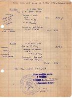 VP13.213 - Commissariat De Police De BEZIERS 1947 - Document Concernant Mr BRUN Professeur - Police & Gendarmerie