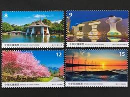 Taiwan Formosa 2018 Nr. 4240-43 Landschaften Taichung City Tourismus Reiseziele - 1945-... République De Chine