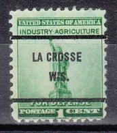 USA Precancel Vorausentwertung Preo, Bureau Wisconsin La Crosse 899-61 - Vereinigte Staaten