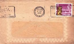 Lettre Singapour Singapore 1959 The Singapore Postal District Help The Postman - Singapour (...-1959)