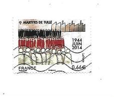 Martyrs De Tulle N°4865 Oblitéré Année 2014 - Gebraucht
