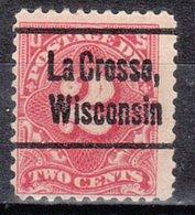 USA Precancel Vorausentwertung Preo, Locals Wisconsin La Crosse J62-L-4 E - Vereinigte Staaten