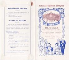 MENU - DEJEUNER Du 26 JUIN 1926 - Menus