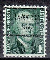 USA Precancel Vorausentwertung Preo, Locals Wisconsin Lakemills 713 - Vereinigte Staaten