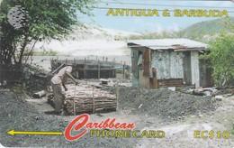 Antigua, ANT-97C, Charcoal Burning, 2 Scans. - Antigua And Barbuda