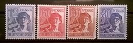 FRANCOBOLLI STAMPS GERMANIA GERMANY 1947 MNH**  SERIE UOMINI AL LAVORO OCCUPAZIONE ALLEATA OCCUPATION ALLIED DEUTSCHE - Bizone