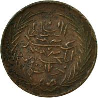 Monnaie, Tunisie, TUNIS, Sultan Abdul Mejid, 6 Nasri, 1852, Tunis, TTB, Cuivre - Tunisie