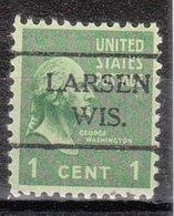 USA Precancel Vorausentwertung Preo, Locals Wisconsin Larsen 716 - Vereinigte Staaten