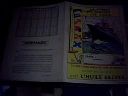 Protege Cahier Huile De  Foie De Morue  Salver La  Marine A  Travers  Les Ages Le Normandie - Blotters