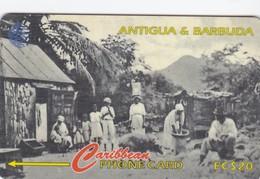 "Antigua, ANT-54C (0), Rural Antiguan Family ""1905"", 2 Scans.   Normal Zero: ""0"". - Antigua And Barbuda"