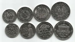 Uzbekistan Set On New 2018 Coins : 50,100,200 And 500 Som UNC - Uzbenisktán