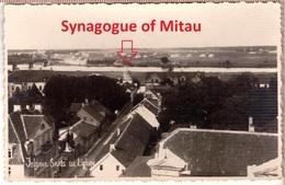 Jewish-Synagoge-Judaika-Mitau-Jelgava-Latvia-Lettland-1930s - Judaísmo